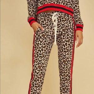 Veronica Beard x Bandier Cheetah Sweats